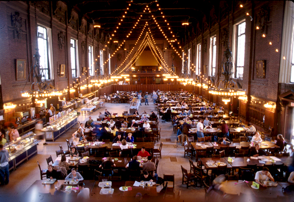 Dining Halls Filming At Yale University